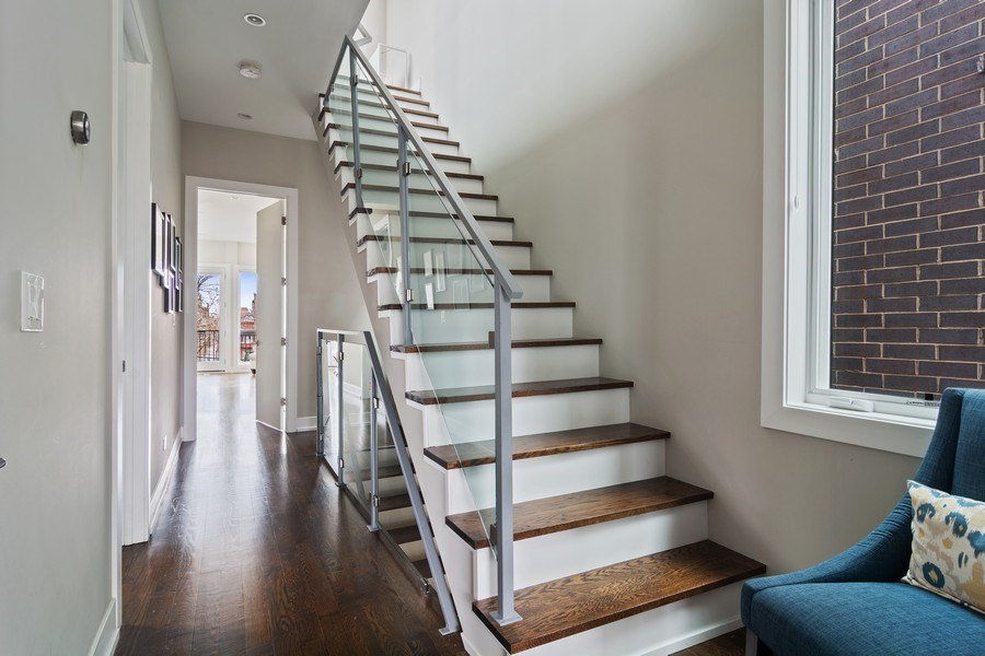 Real Estate Photography - 1613 N Honore, Chicago, IL, 60622 - Staircase