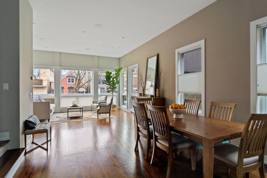 Real Estate Photography - 1613 N Honore, Chicago, IL, 60622 - Living Room / Dining Room