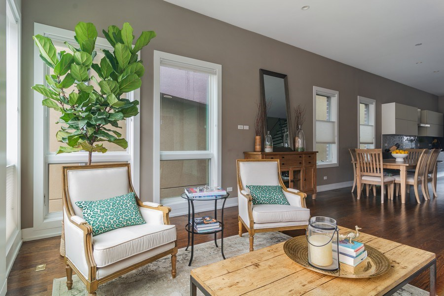 Real Estate Photography - 1613 N Honore, Chicago, IL, 60622 - Living Room/Dining Room