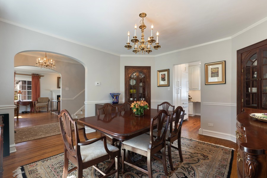 Real Estate Photography - 1942 Thornwood Ave, Wilmette, IL, 60091 - Dining Room