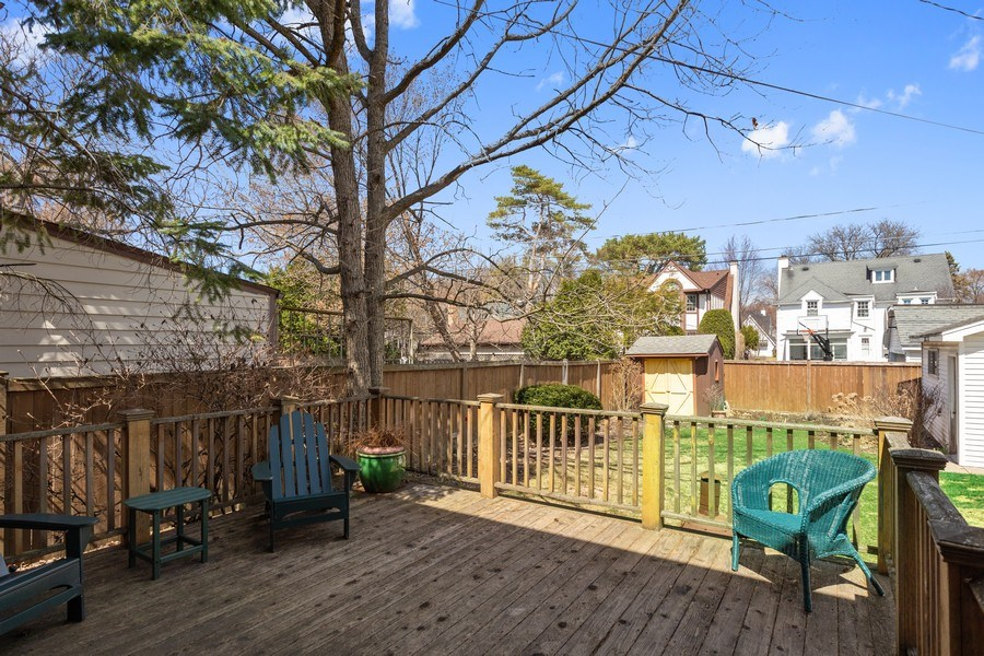 Real Estate Photography - 1942 Thornwood Ave, Wilmette, IL, 60091 - Deck