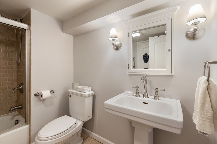 Real Estate Photography - 1942 Thornwood Ave, Wilmette, IL, 60091 - 2nd Bathroom
