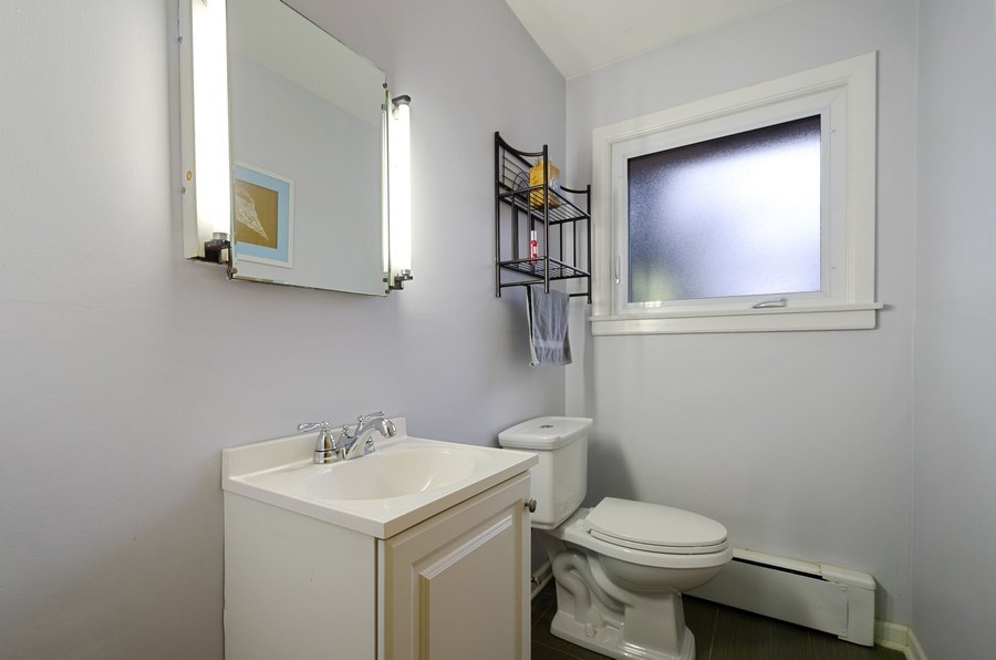 Real Estate Photography - 8039 Parkside, Morton Grove, IL, 60053 - Powder Room