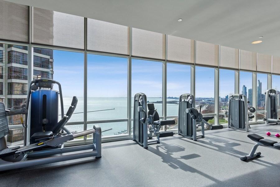 Real Estate Photography - 340 e randolph, 905, Chicago, IL, 60601 - Fitness Room