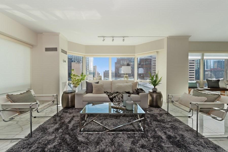 Real Estate Photography - 100 E Huron, 1104, Chicago, IL, 60610 - Living Room