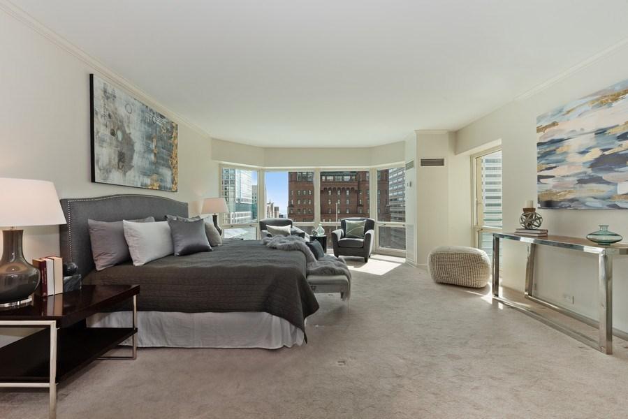 Real Estate Photography - 100 E Huron, 1104, Chicago, IL, 60610 - Master Bedroom
