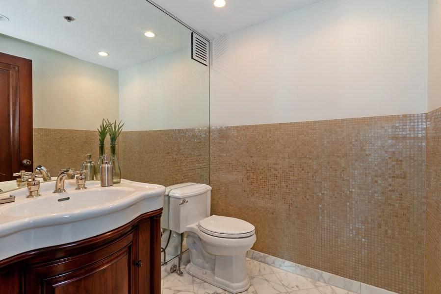 Real Estate Photography - 100 E Huron, 1104, Chicago, IL, 60610 - Powder Room