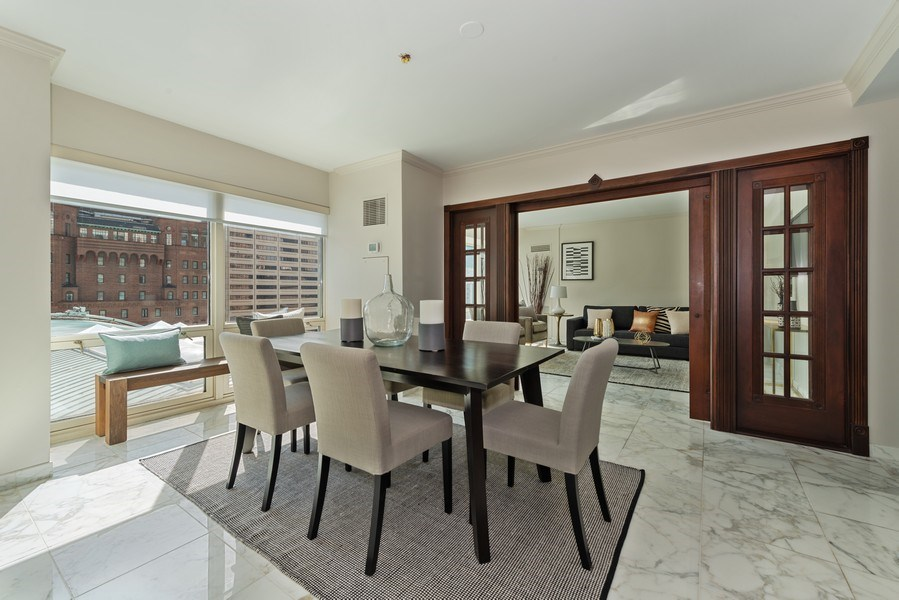 Real Estate Photography - 100 E Huron, 1104, Chicago, IL, 60610 - Dining Room
