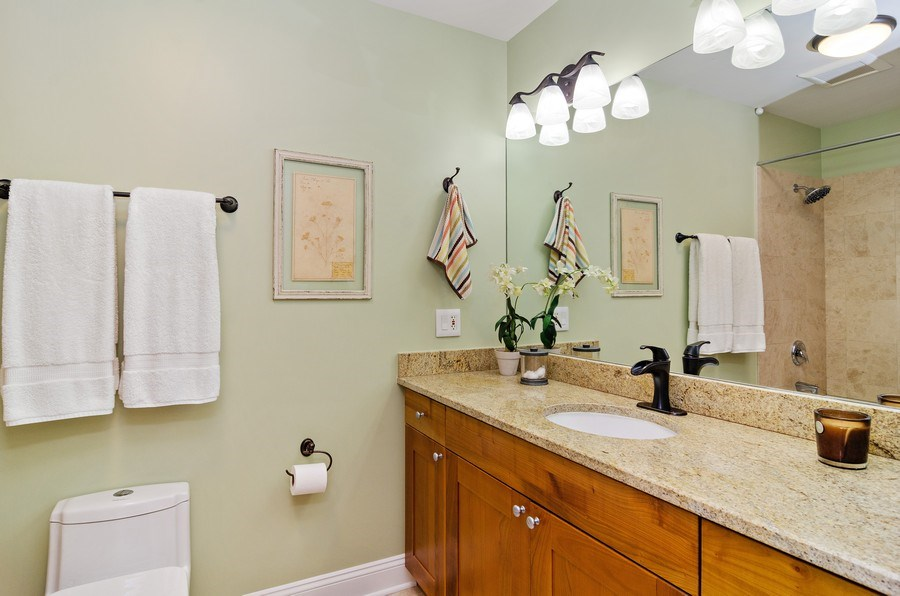 Real Estate Photography - 4619 N. Lawndale Ave #1, Chicago, IL, 60625 - Master Bathroom