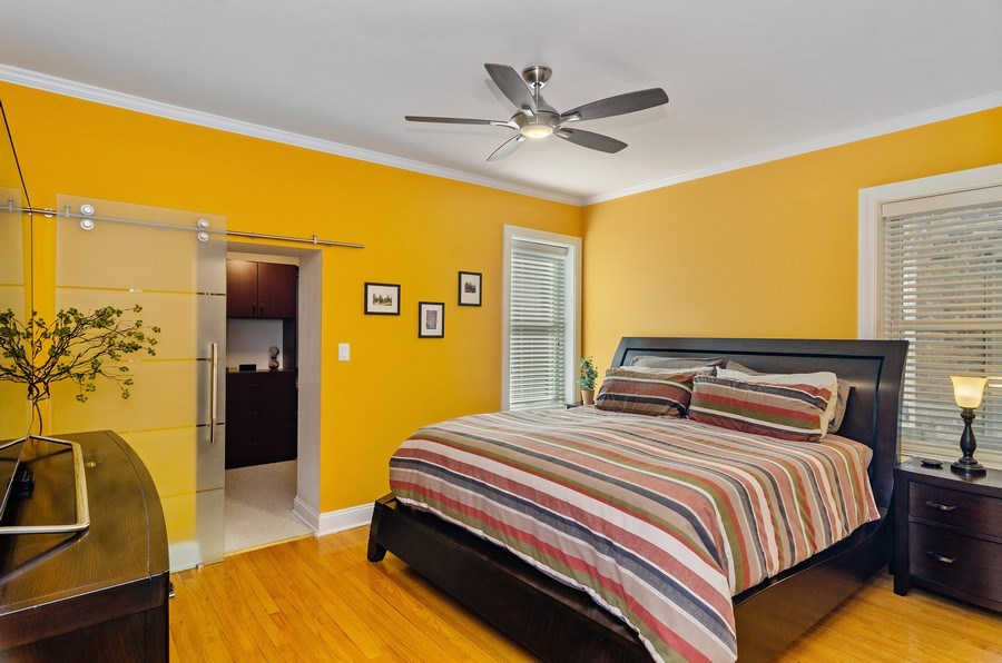 Real Estate Photography - 4619 N. Lawndale Ave #1, Chicago, IL, 60625 - Master Bedroom