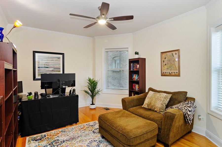 Real Estate Photography - 4619 N. Lawndale Ave #1, Chicago, IL, 60625 - 2nd Bedroom