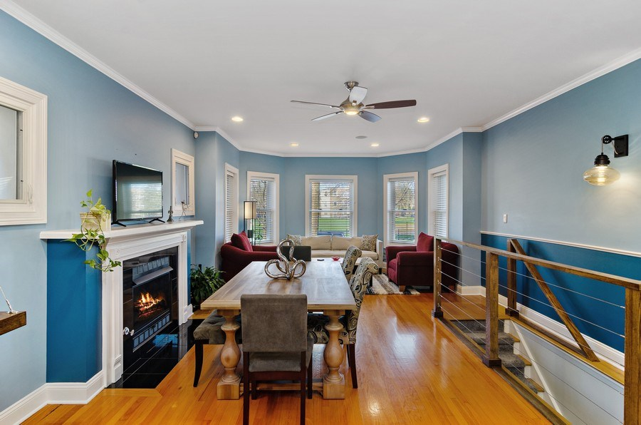 Real Estate Photography - 4619 N. Lawndale Ave #1, Chicago, IL, 60625 - Dining Room