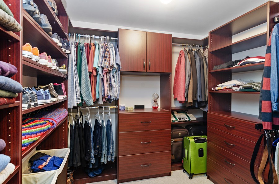 Real Estate Photography - 4619 N. Lawndale Ave #1, Chicago, IL, 60625 - Master Bedroom Closet