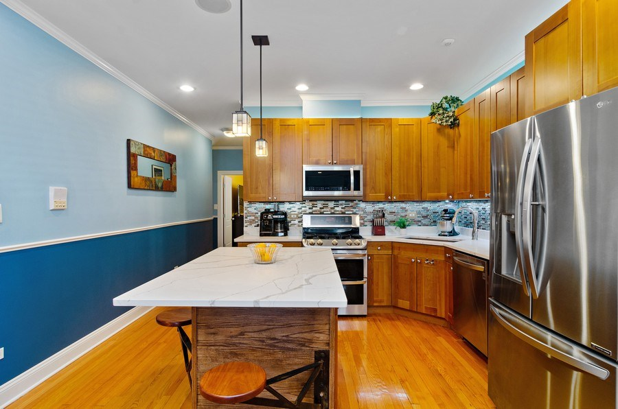 Real Estate Photography - 4619 N. Lawndale Ave #1, Chicago, IL, 60625 - Kitchen