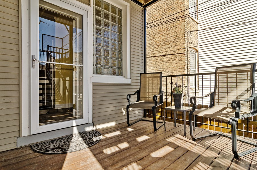 Real Estate Photography - 4619 N. Lawndale Ave #1, Chicago, IL, 60625 - Deck