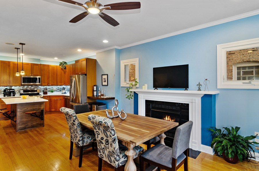 Real Estate Photography - 4619 N. Lawndale Ave #1, Chicago, IL, 60625 - Kitchen / Dining Room
