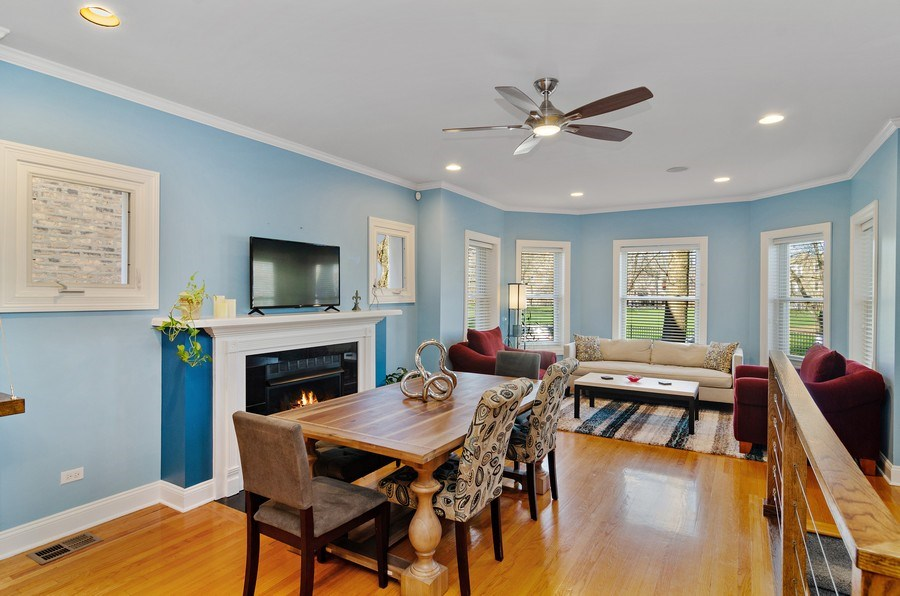 Real Estate Photography - 4619 N. Lawndale Ave #1, Chicago, IL, 60625 - Living Room / Dining Room