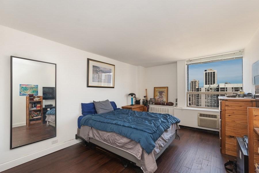 Real Estate Photography - 1360 N Sandberg Ter., Unit 2808C, Chicago, IL, 60610 - Bedroom