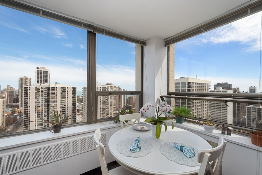 Real Estate Photography - 1360 N Sandberg Ter., Unit 2808C, Chicago, IL, 60610 - Dining Room
