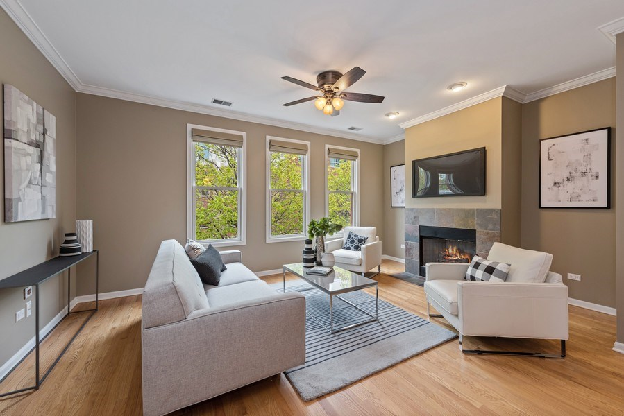 Real Estate Photography - 1012 N. Crosby, Chicago, IL, 60610 - Living Room