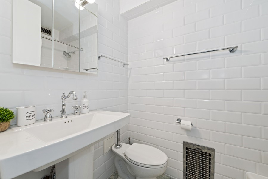 Real Estate Photography - 340 W Diversey Pkwy, unit 1416, Chicago, IL, 60657 - 3rd Bathroom