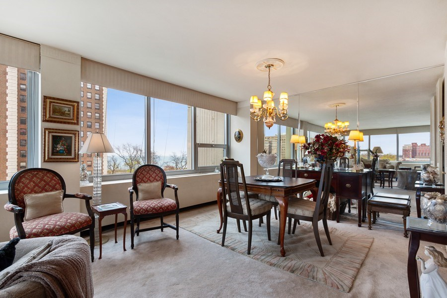 Real Estate Photography - 1700 E 56th St, Unit 802, Chicago, IL, 60637 - Dining Room