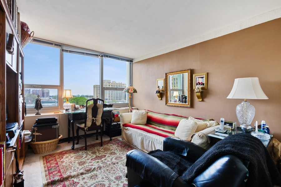 Real Estate Photography - 1700 E 56th St, Unit 802, Chicago, IL, 60637 - Family Room