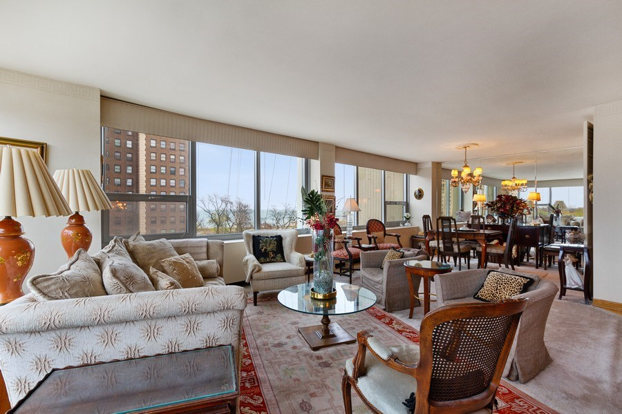 Real Estate Photography - 1700 E 56th St, Unit 802, Chicago, IL, 60637 - Living Room / Dining Room