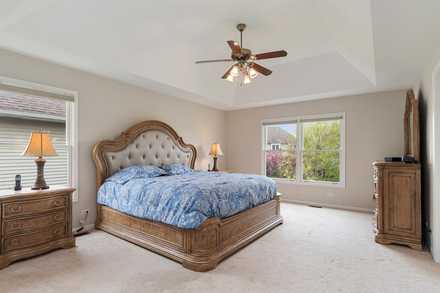 Real Estate Photography - 4924 Clearwater Ln, Naperville, IL, 60564 - Master Bedroom