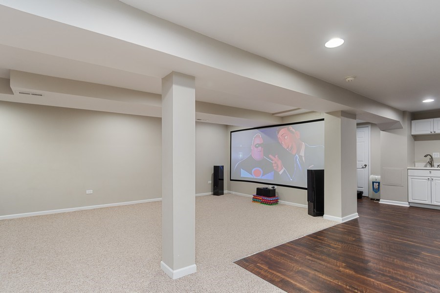 Real Estate Photography - 4924 Clearwater Ln, Naperville, IL, 60564 - Theater