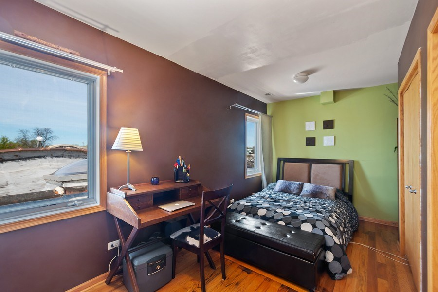 Real Estate Photography - 5516 S Indiana Unit 4, chicago, IL, 60615 - 2nd Bedroom