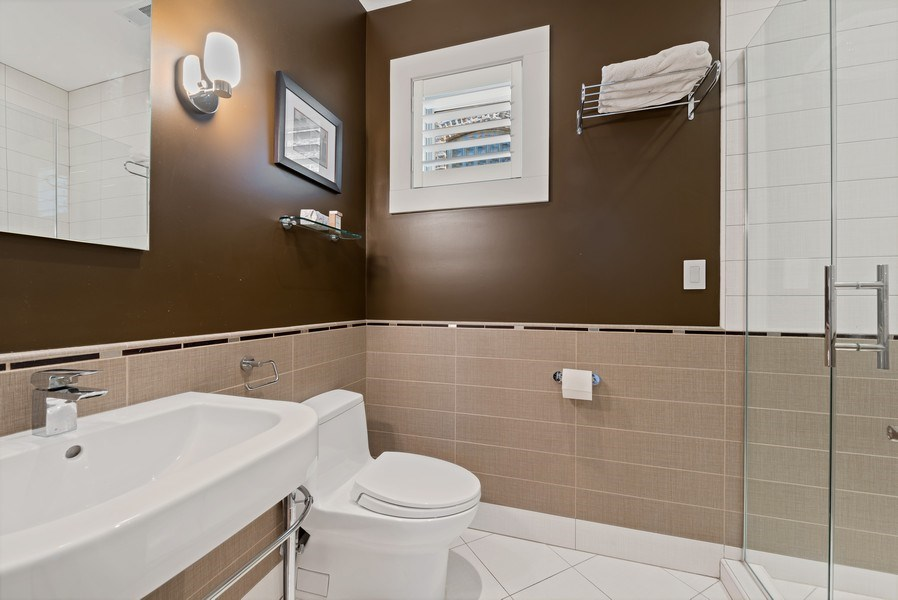 Real Estate Photography - 1651 W. Winona St., Chicago, IL, 60640 - 3rd Bathroom