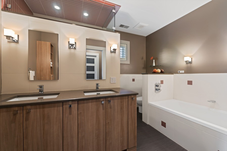 Real Estate Photography - 1651 W. Winona St., Chicago, IL, 60640 - Master Bathroom