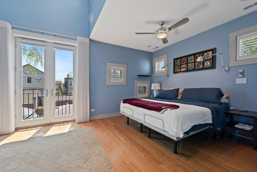 Real Estate Photography - 1651 W. Winona St., Chicago, IL, 60640 - Master Bedroom