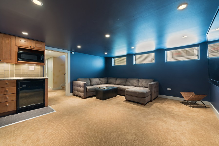 Real Estate Photography - 1651 W. Winona St., Chicago, IL, 60640 - Recreational Room