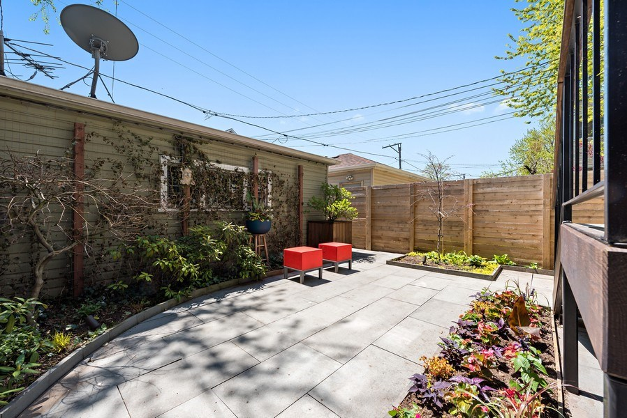 Real Estate Photography - 1651 W. Winona St., Chicago, IL, 60640 - Back Yard