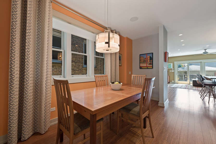 Real Estate Photography - 1651 W. Winona St., Chicago, IL, 60640 - Dining Area