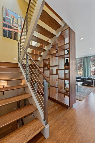 Real Estate Photography - 1651 W. Winona St., Chicago, IL, 60640 - Staircase