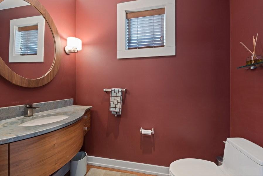 Real Estate Photography - 1651 W. Winona St., Chicago, IL, 60640 - Half Bath