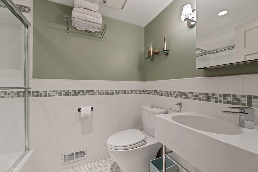 Real Estate Photography - 1651 W. Winona St., Chicago, IL, 60640 - 2nd Bathroom