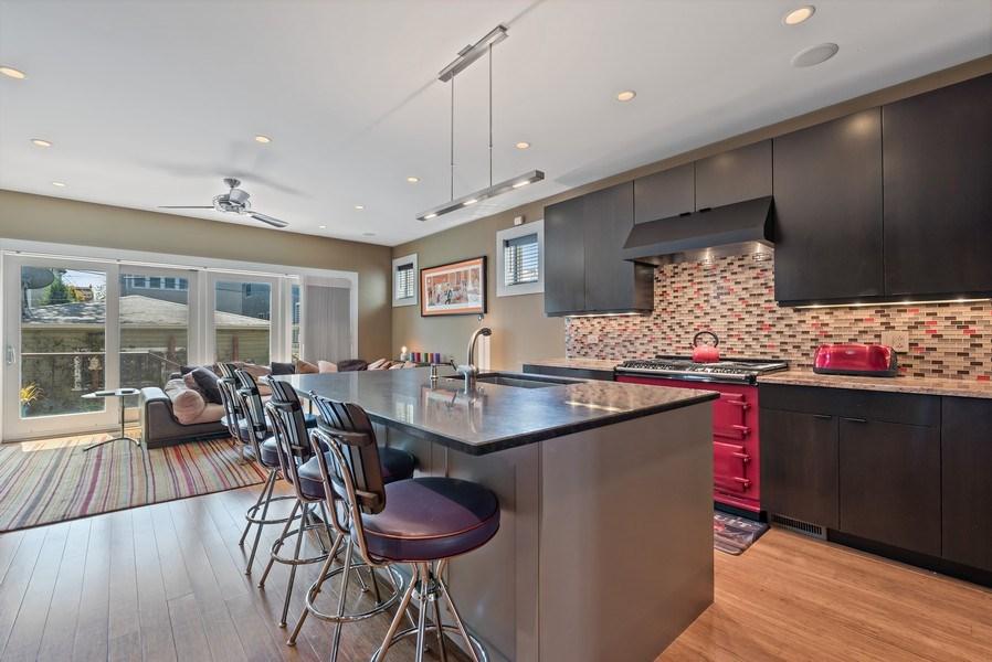 Real Estate Photography - 1651 W. Winona St., Chicago, IL, 60640 - Family Room / Kitchen