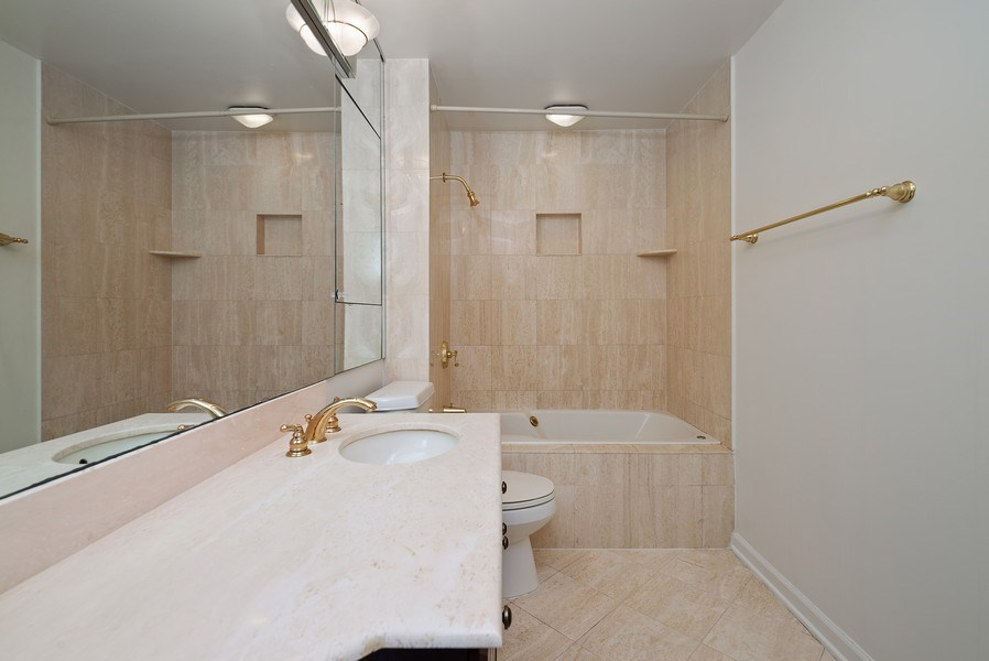 Real Estate Photography - 195 N. Harbor Dr., Unit #4509, Chicago, IL, 60601 - Master Bathroom