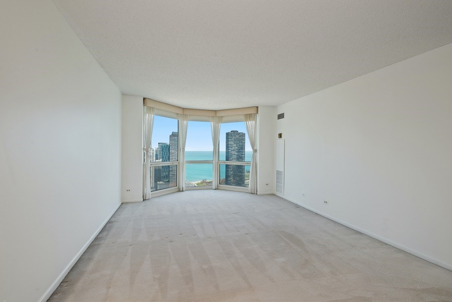 Real Estate Photography - 195 N. Harbor Dr., Unit #4509, Chicago, IL, 60601 - Master Bedroom