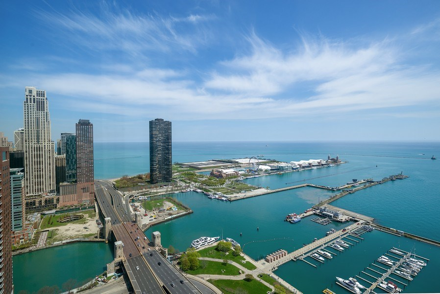 Real Estate Photography - 195 N. Harbor Dr., Unit #4509, Chicago, IL, 60601 - View