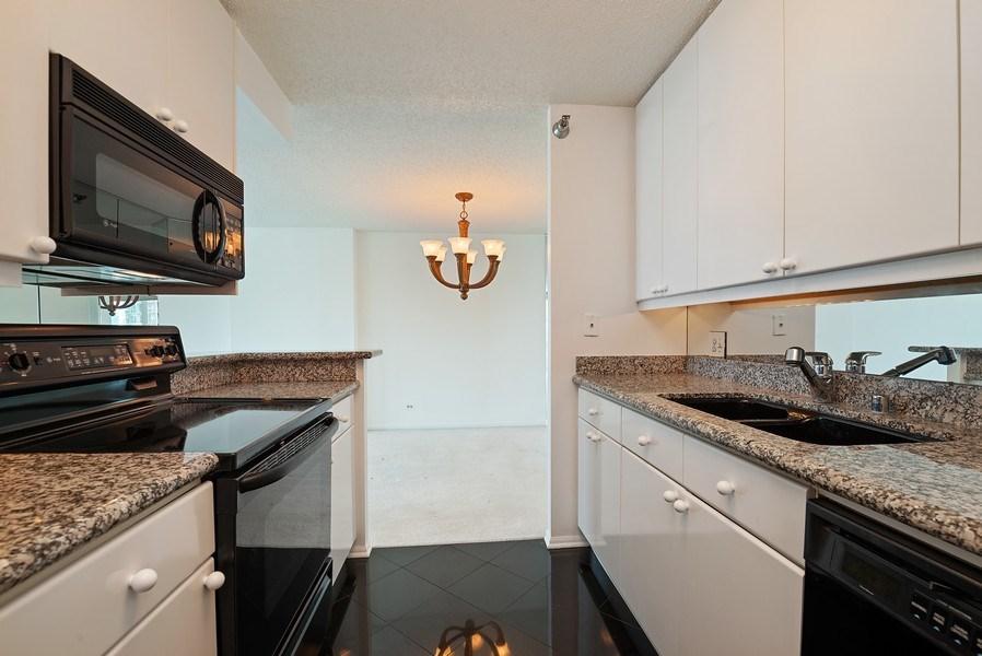 Real Estate Photography - 195 N. Harbor Dr., Unit #4509, Chicago, IL, 60601 - Kitchen