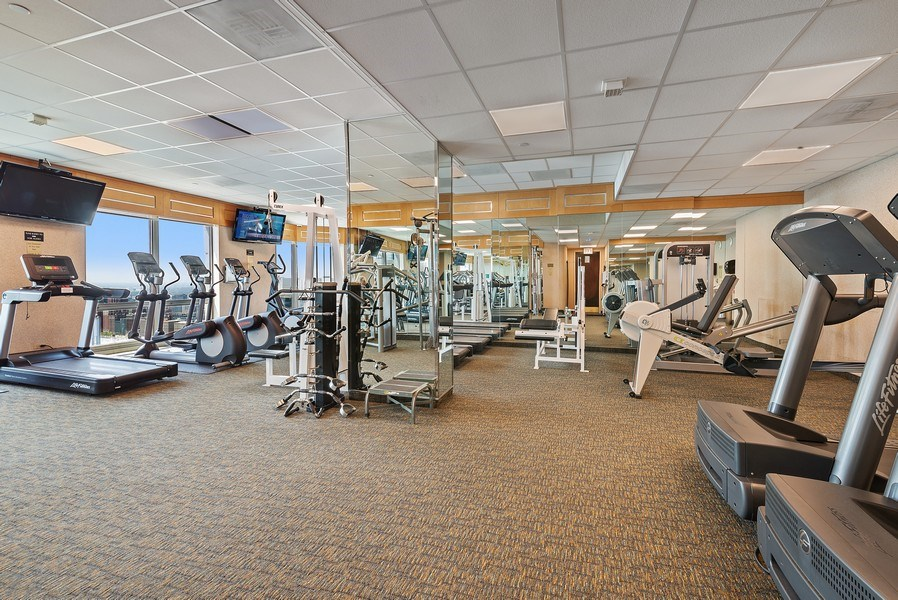 Real Estate Photography - 195 N. Harbor Dr., Unit #4509, Chicago, IL, 60601 - Exercise Room