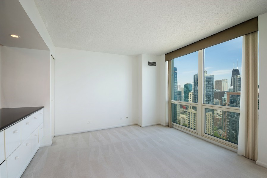 Real Estate Photography - 195 N. Harbor Dr., Unit #4509, Chicago, IL, 60601 - Dining Room