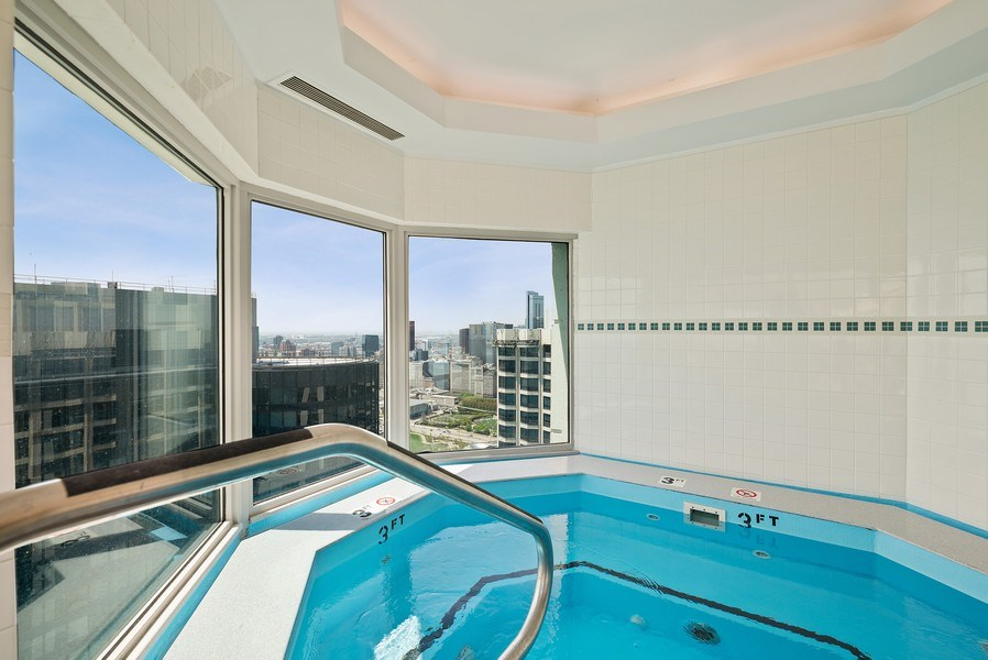 Real Estate Photography - 195 N. Harbor Dr., Unit #4509, Chicago, IL, 60601 - Entertainment Room
