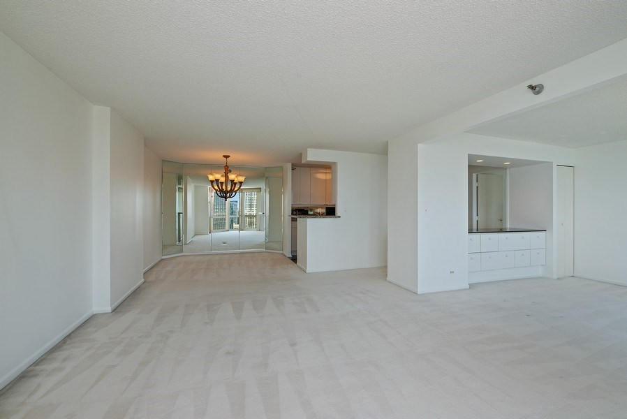 Real Estate Photography - 195 N. Harbor Dr., Unit #4509, Chicago, IL, 60601 - Great Room