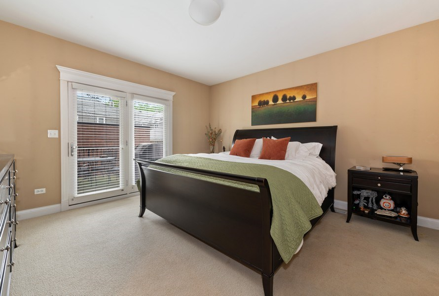 Real Estate Photography - 3316 North Clifton Ave, Unit 1, Chicago, IL, 60657 - Master Bedroom